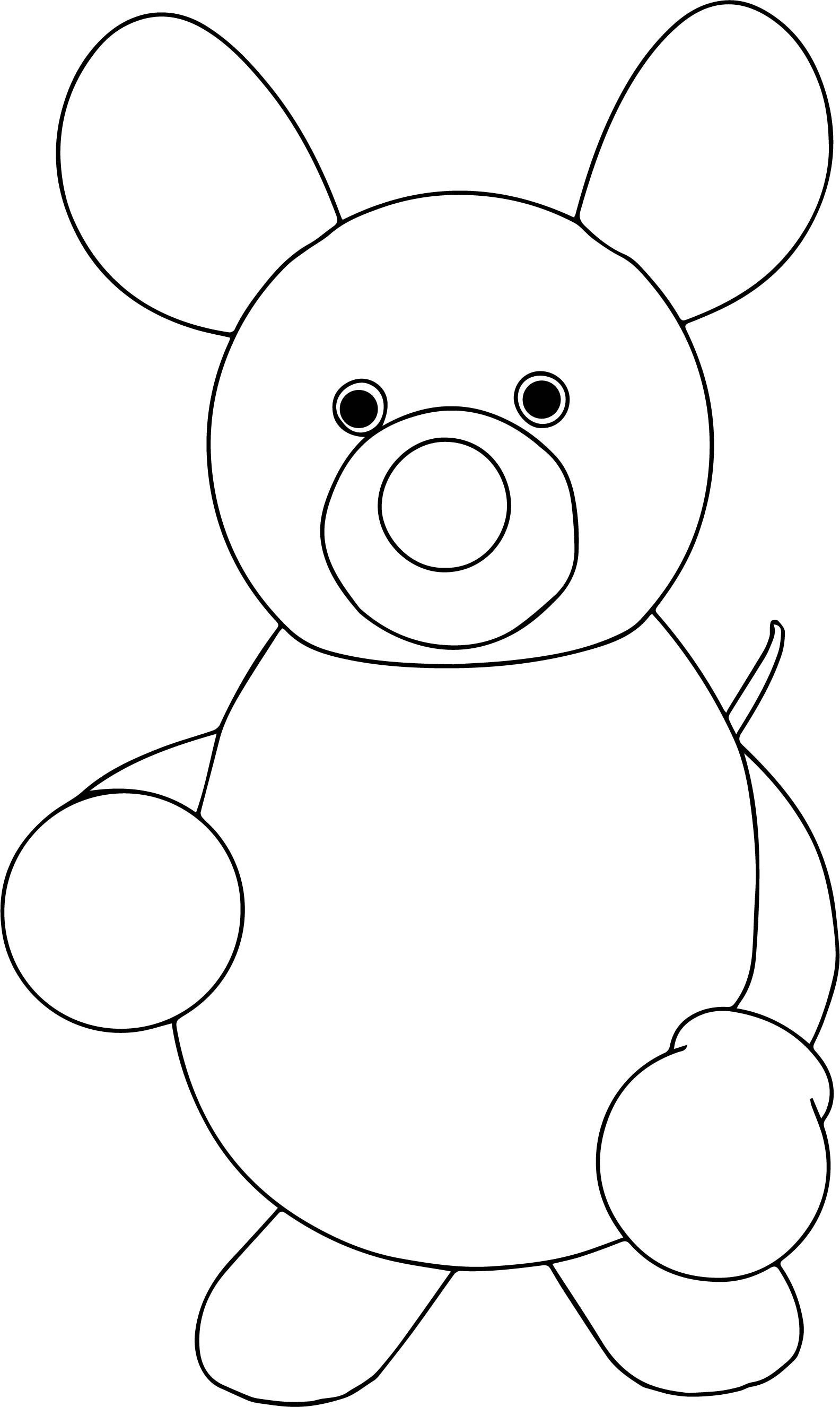 Comic Basic Boxer Fighter Cuttle Mouse Coloring Page