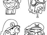 Comic Mario Nintendo Coloring Pages