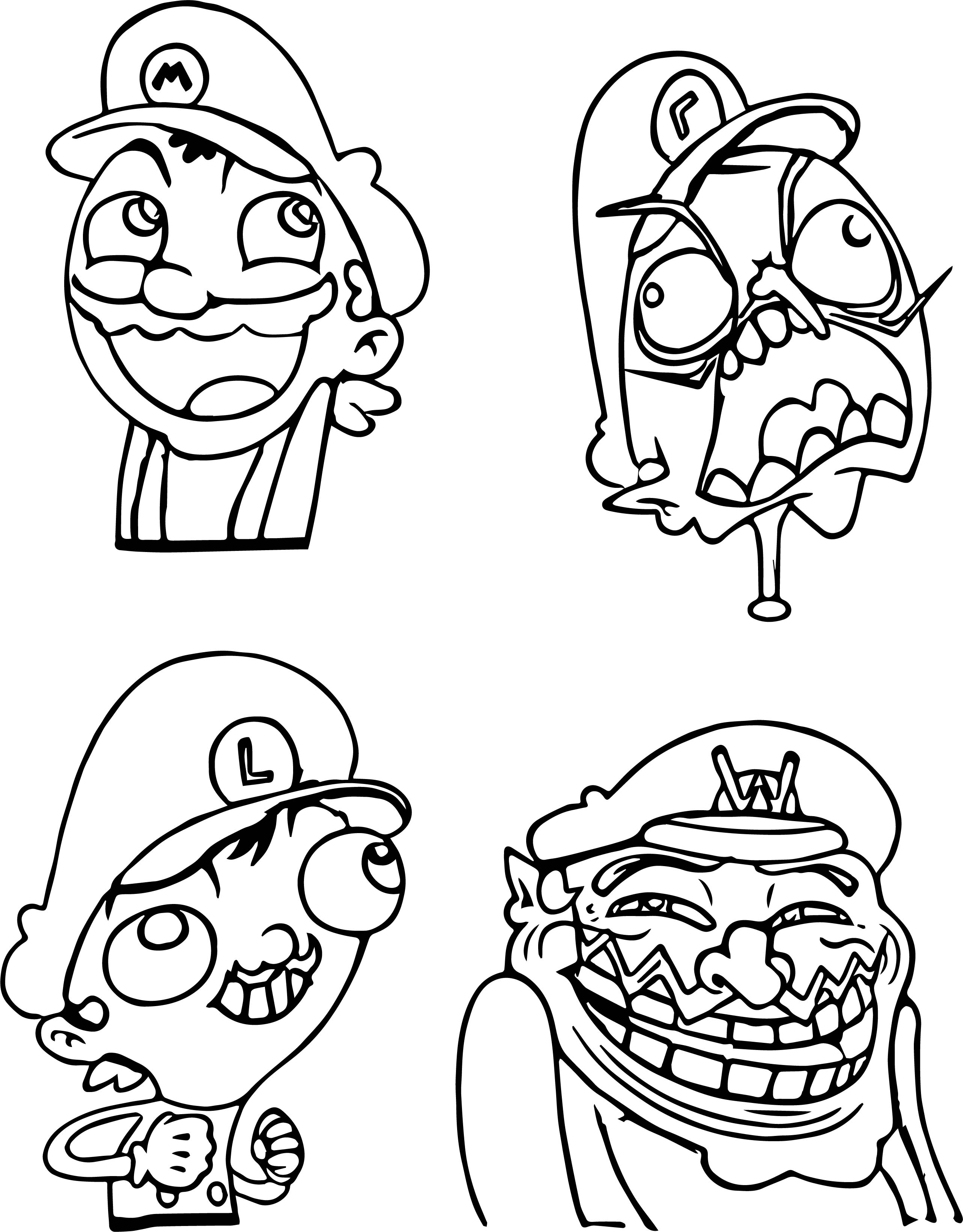 comic mario nintendo coloring pages - Nintendo Coloring Pages