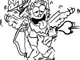 Crazy Cupido Coloring Page