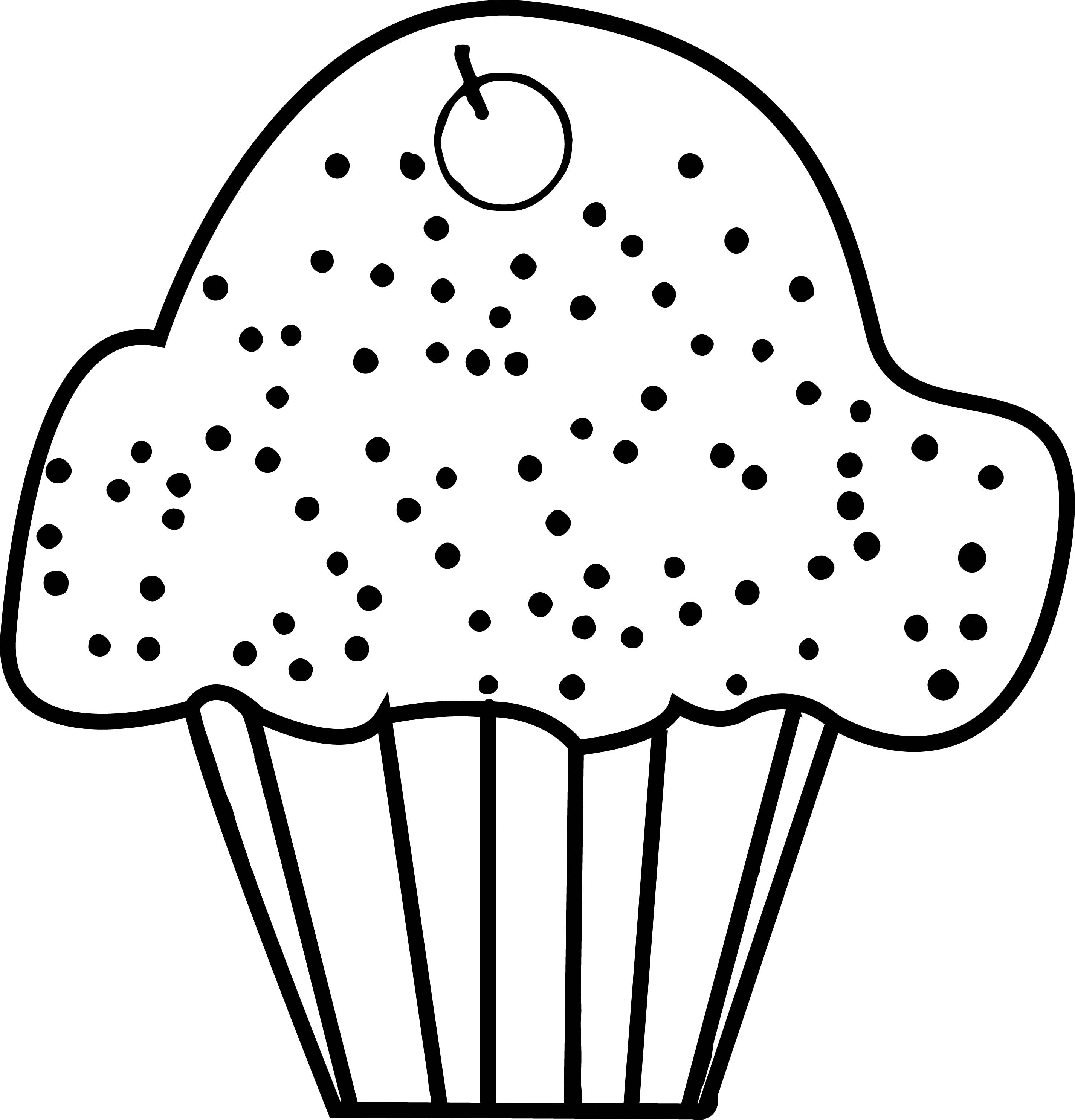 Cupcake Cup Cake Coloring Page