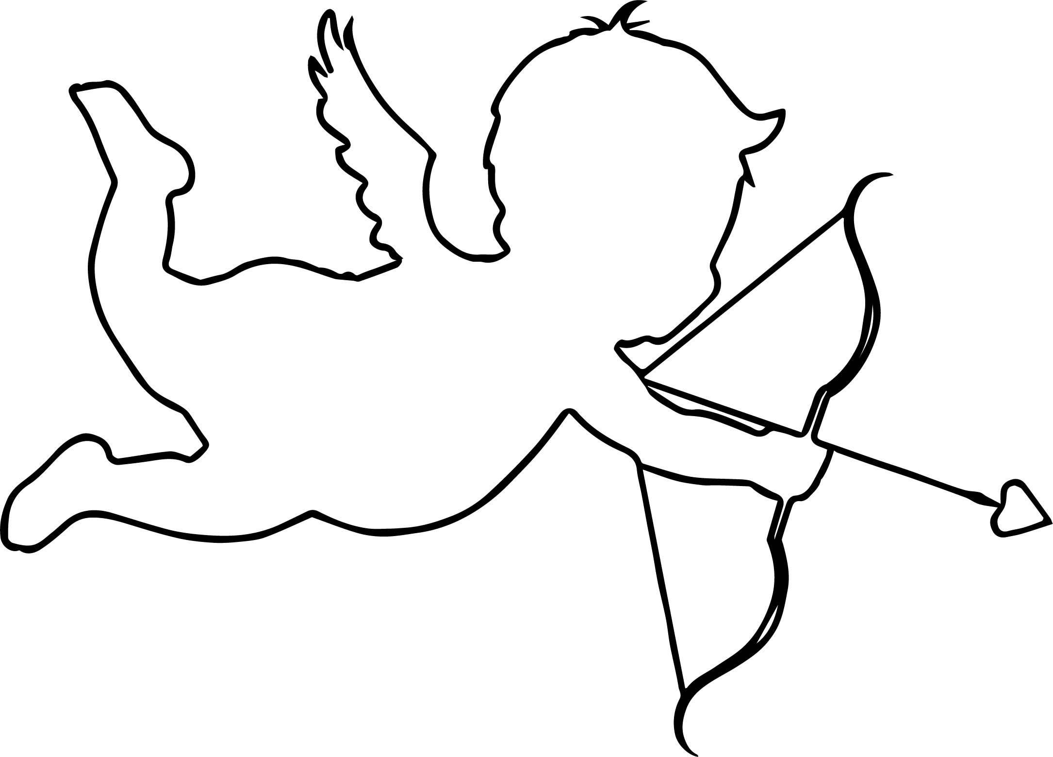 Cupido Outline Coloring Page