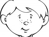 Cute Child Face Coloring Page