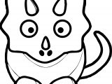 Cute Dinosaur Black And White Baby Blue Dinosaur Coloring Page