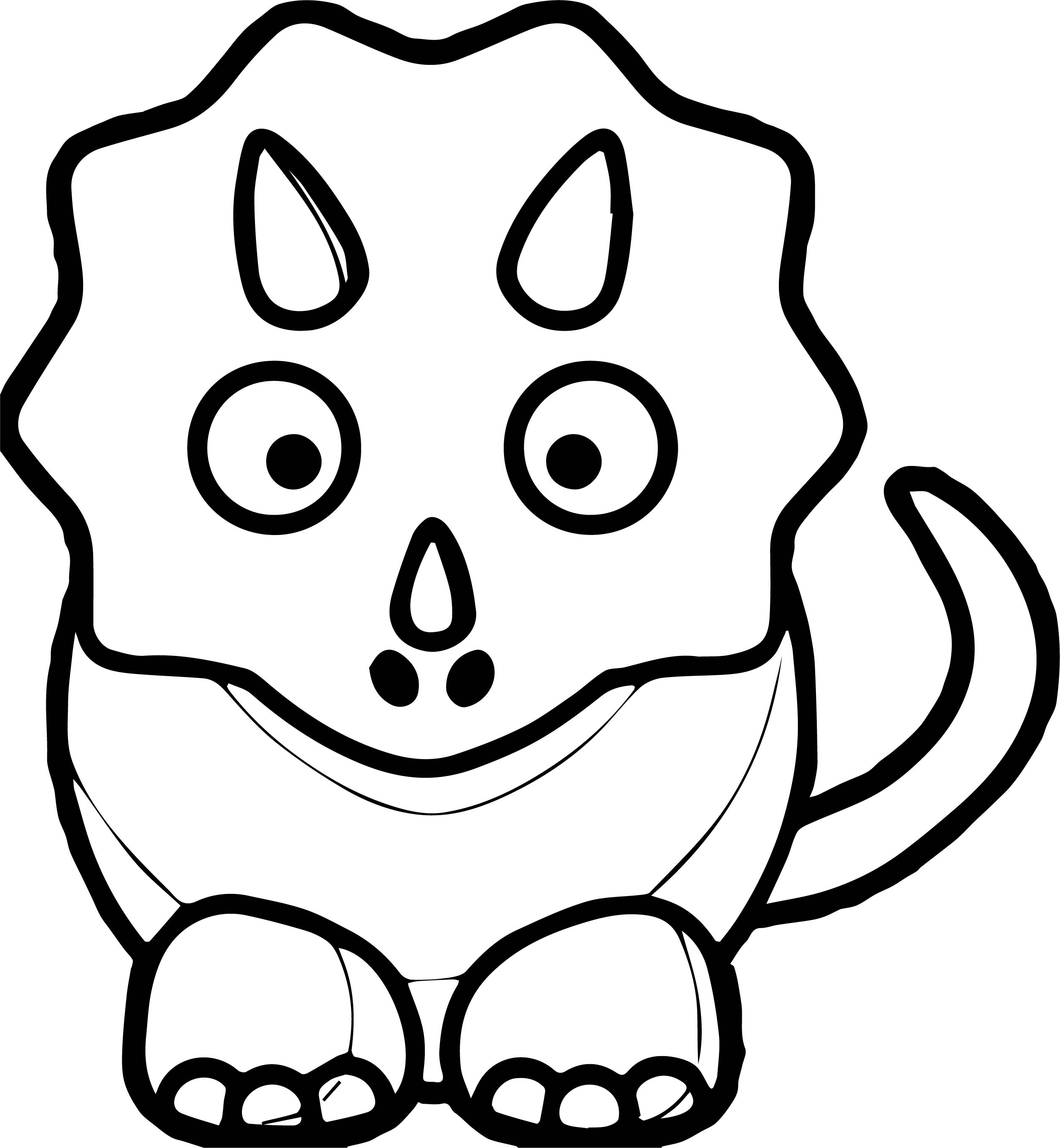 cute dinosaur black and white baby blue dinosaur coloring page - Cute Baby Dinosaur Coloring Pages