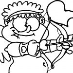 Cute Fat Cupido Coloring Page