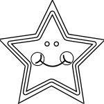 Cute Star Coloring Page