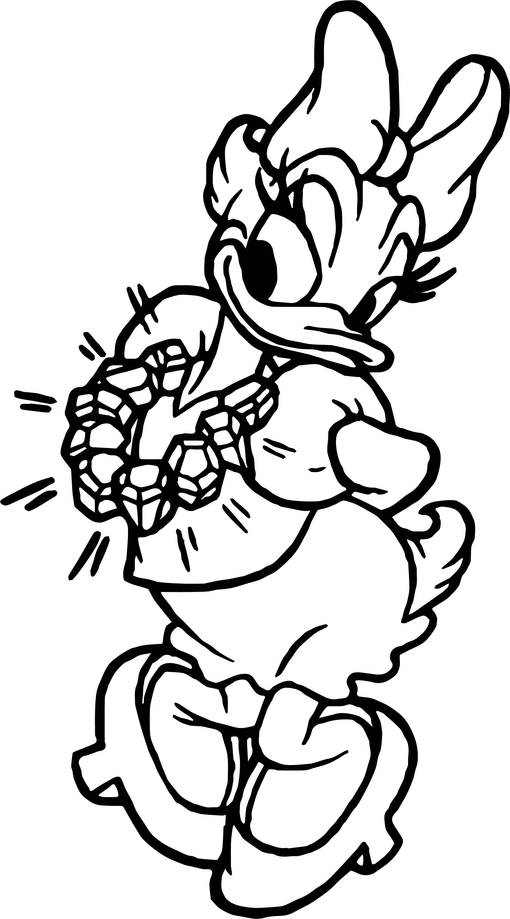 Daisy Duck Diamond Coloring Page
