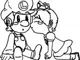 Daisy Kissing Luigi Coloring Page