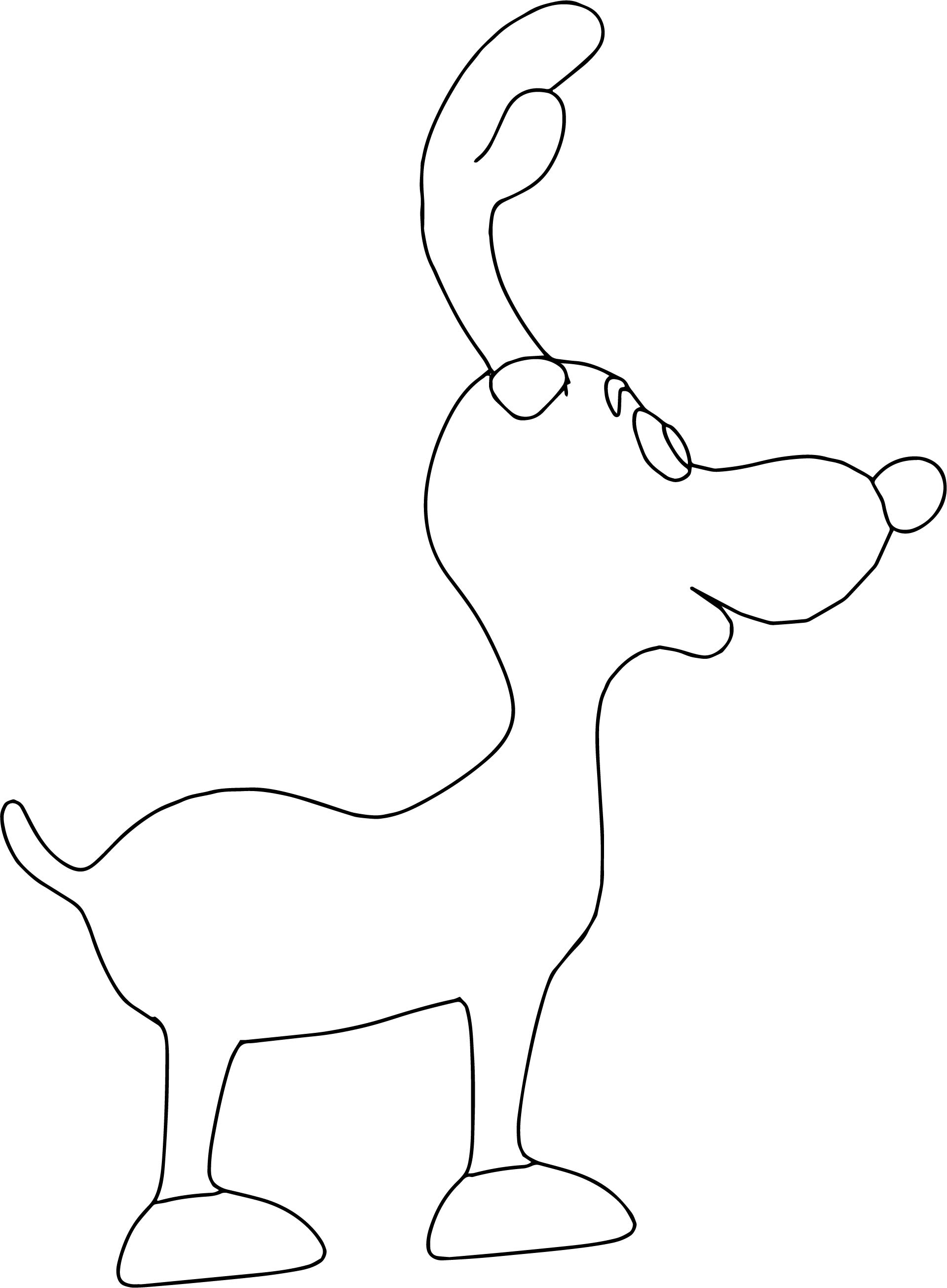 Deer Left View Coloring Page