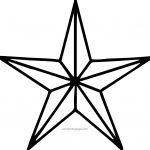 Diamond Star Coloring Page