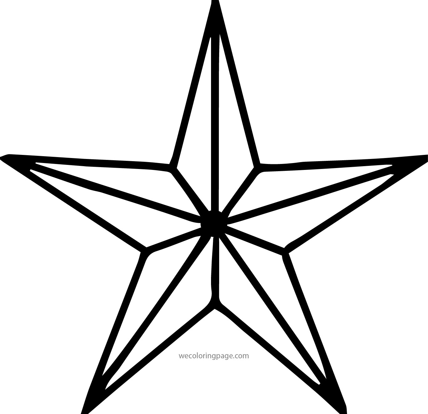 Diamond star coloring page for Diamond coloring page