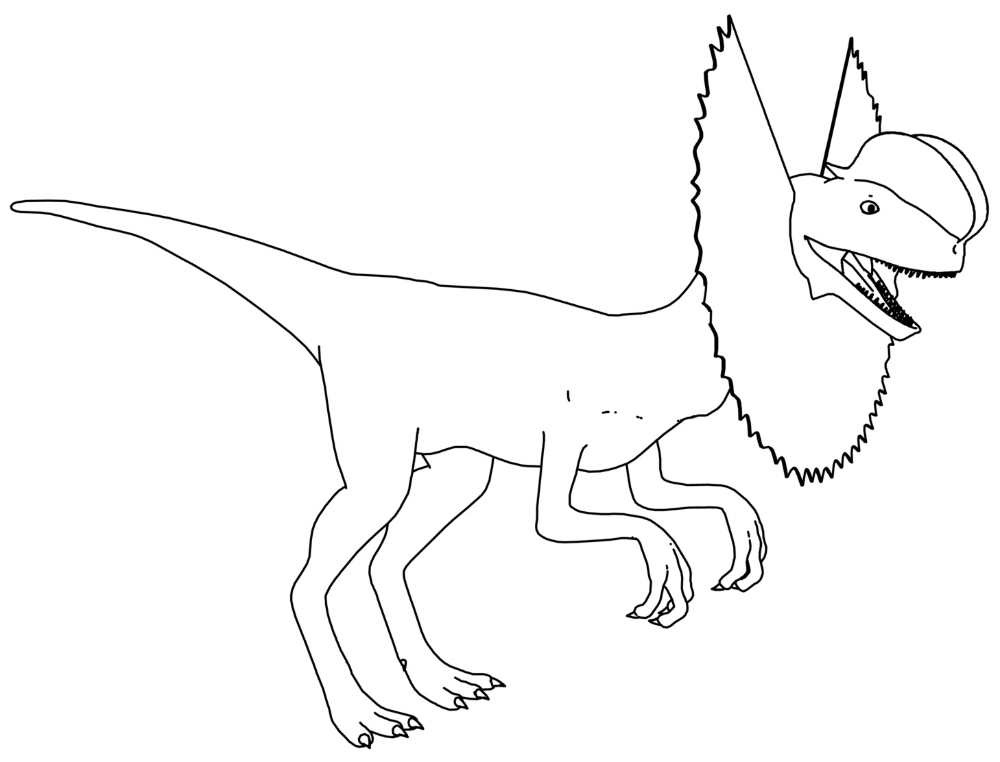 Dilophosaurus dinosaur coloring page for Triceratops coloring page