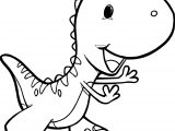 Dino Done Running Coloring Page