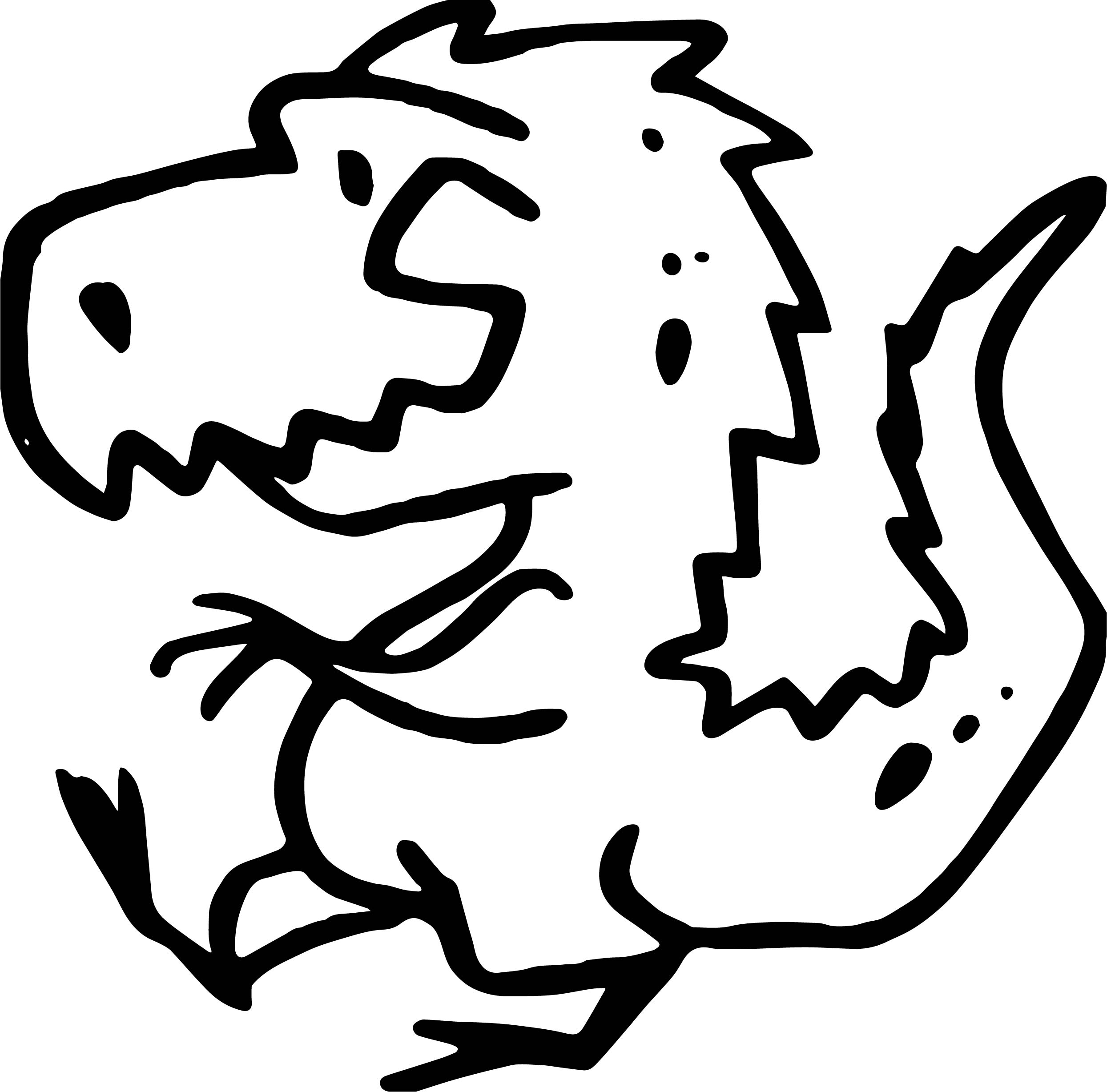 Dino Side Coloring Page