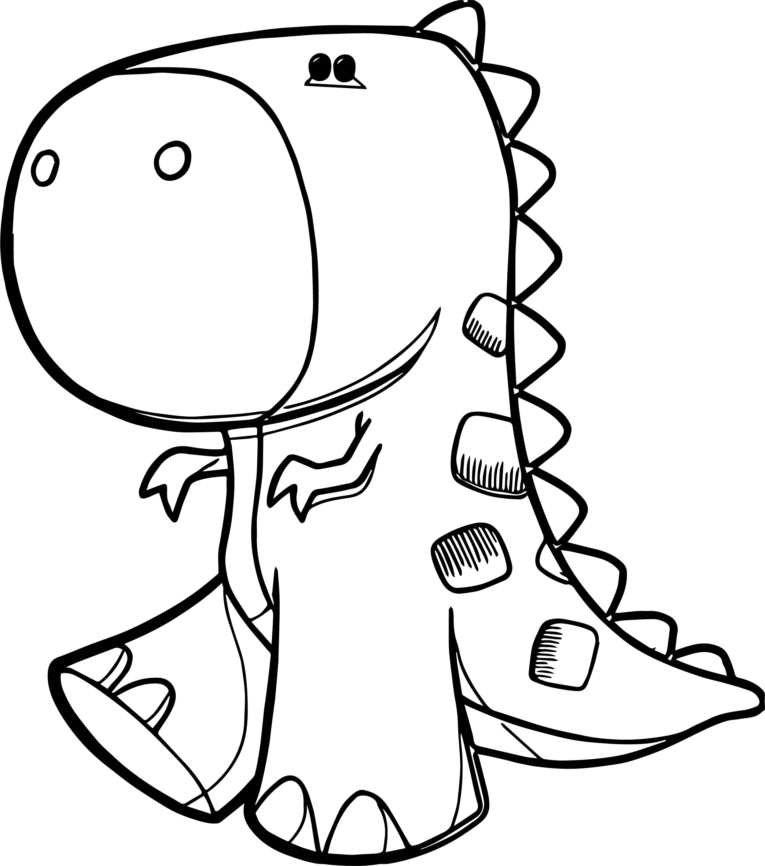 Dinosaur Done Coloring Page