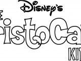 Disney The Aristocats Kids Text Coloring Page