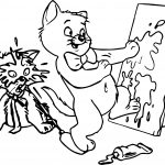 Disney The Aristocats Paint Coloring Page