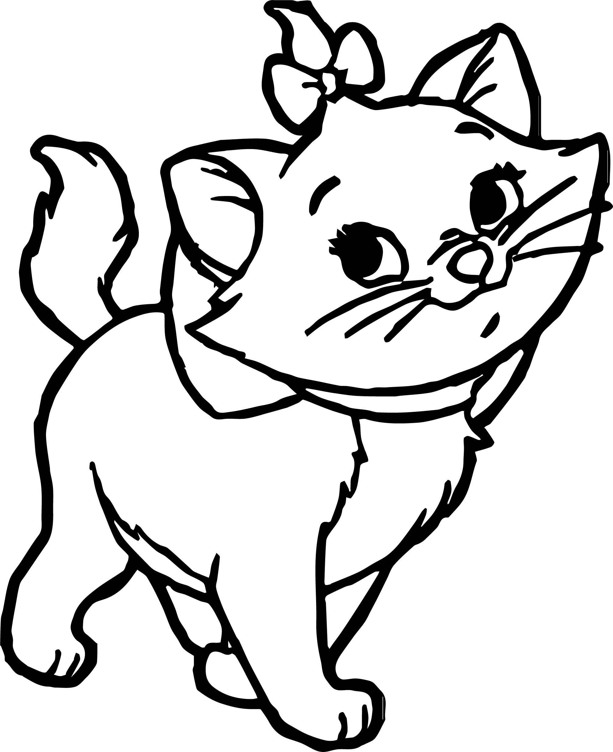 aristocats coloring pages - disney the aristocats walking coloring pages