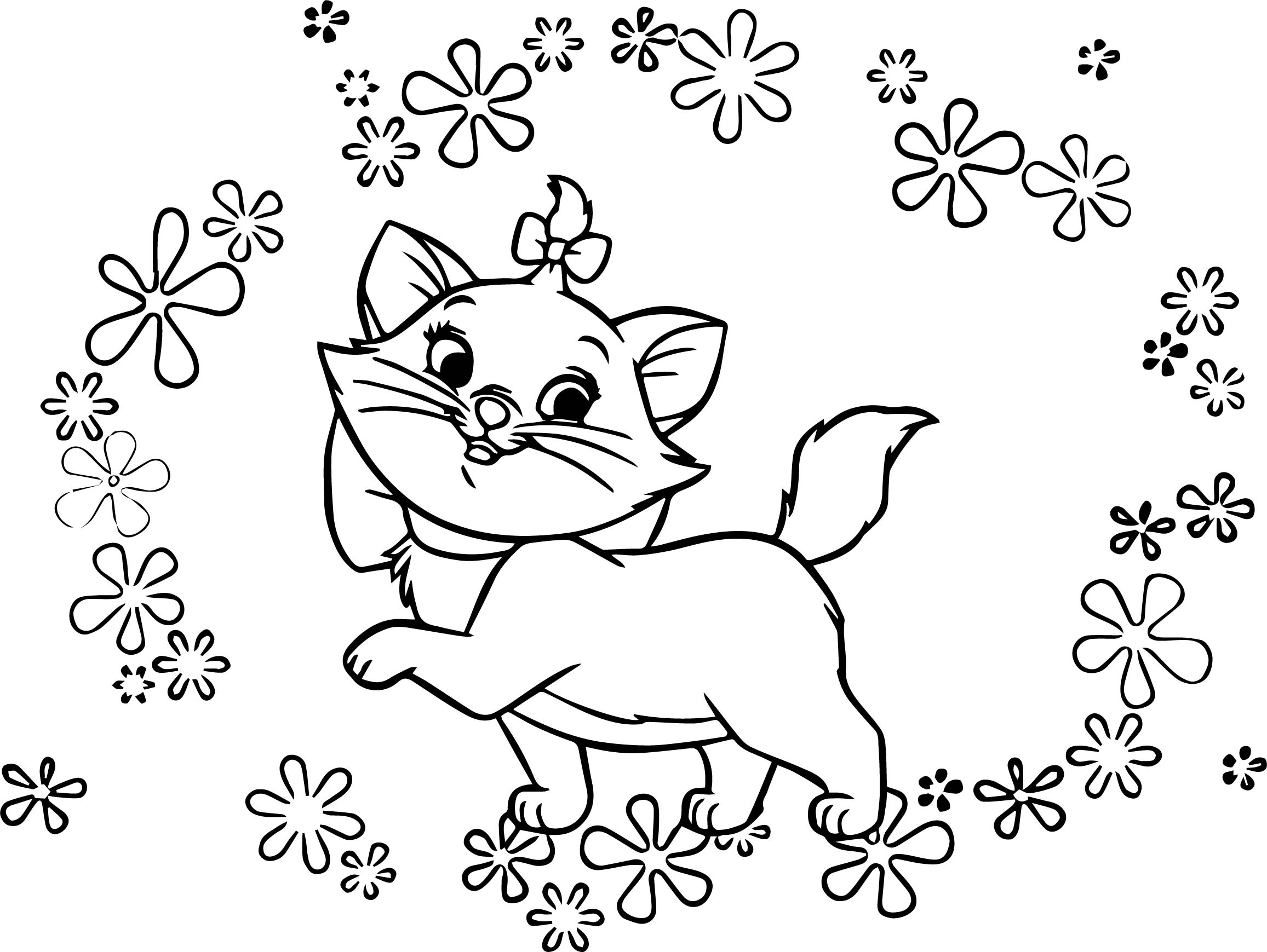 Disney The Flowers Aristocats Coloring Page ...