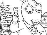 Dog's Best Friend Arthur Dog Treat Coloring Page