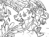 Dora A Exploradora Dora The Explorer Coloring Page