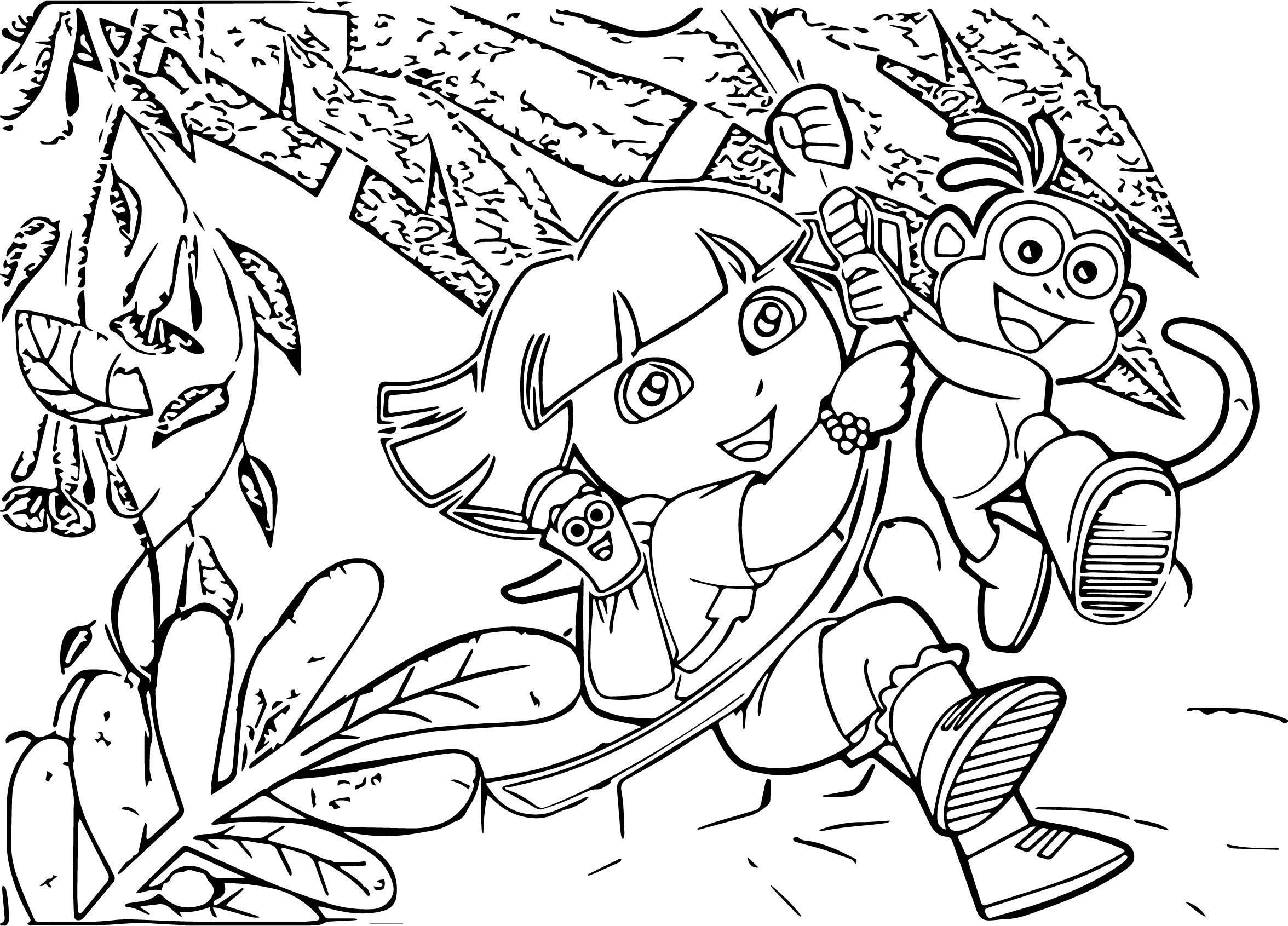 Dora A Exploradora The Explorer Coloring Page