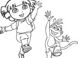 Dora And Monkey Amazing Coloring Pages