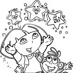 Dora And Monkey Star Picture Image Dora The Explorer Perfect Coloring Page