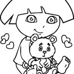 Dora Bear Toy Coloring Page