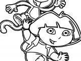 Dora Botas Emcima Coloring Page