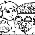 Dora Casa Small Dog Coloring Page