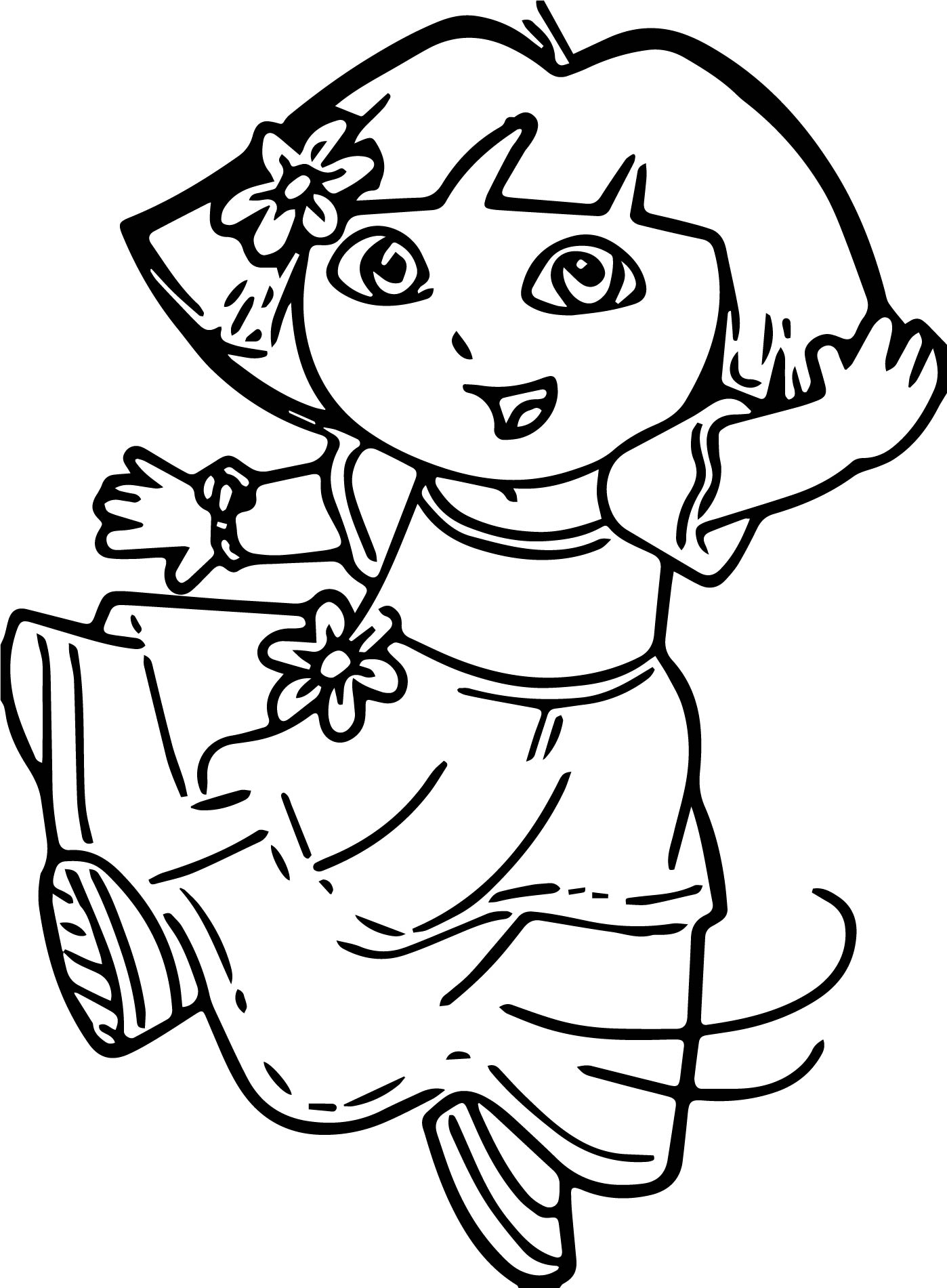 Dora Dance Outfit Coloring Page