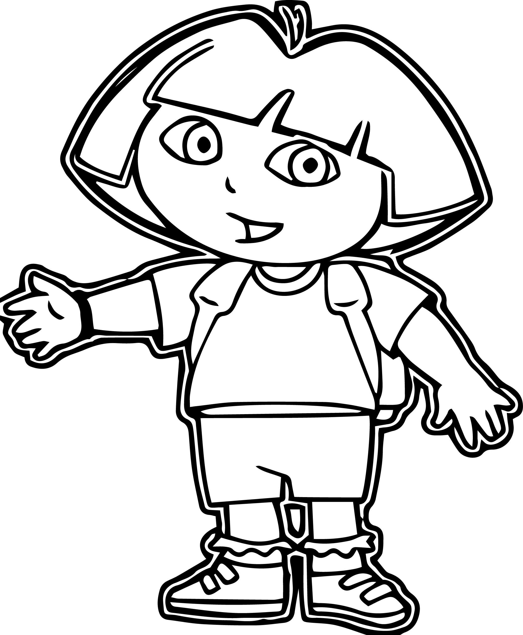 Dora Explora Dora Coloring Page