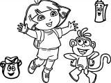 Dora Explorer Cartoon Coloring Page