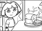 Dora Food Coloring Page