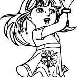 Dora Girl Power Coloring Page