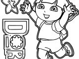 Dora Image Flower Heyoo Happy Coloring Page