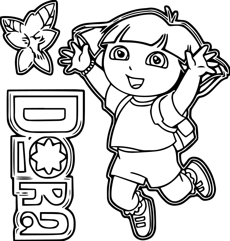 Dora Image Flower Heyoo Happy Coloring Page