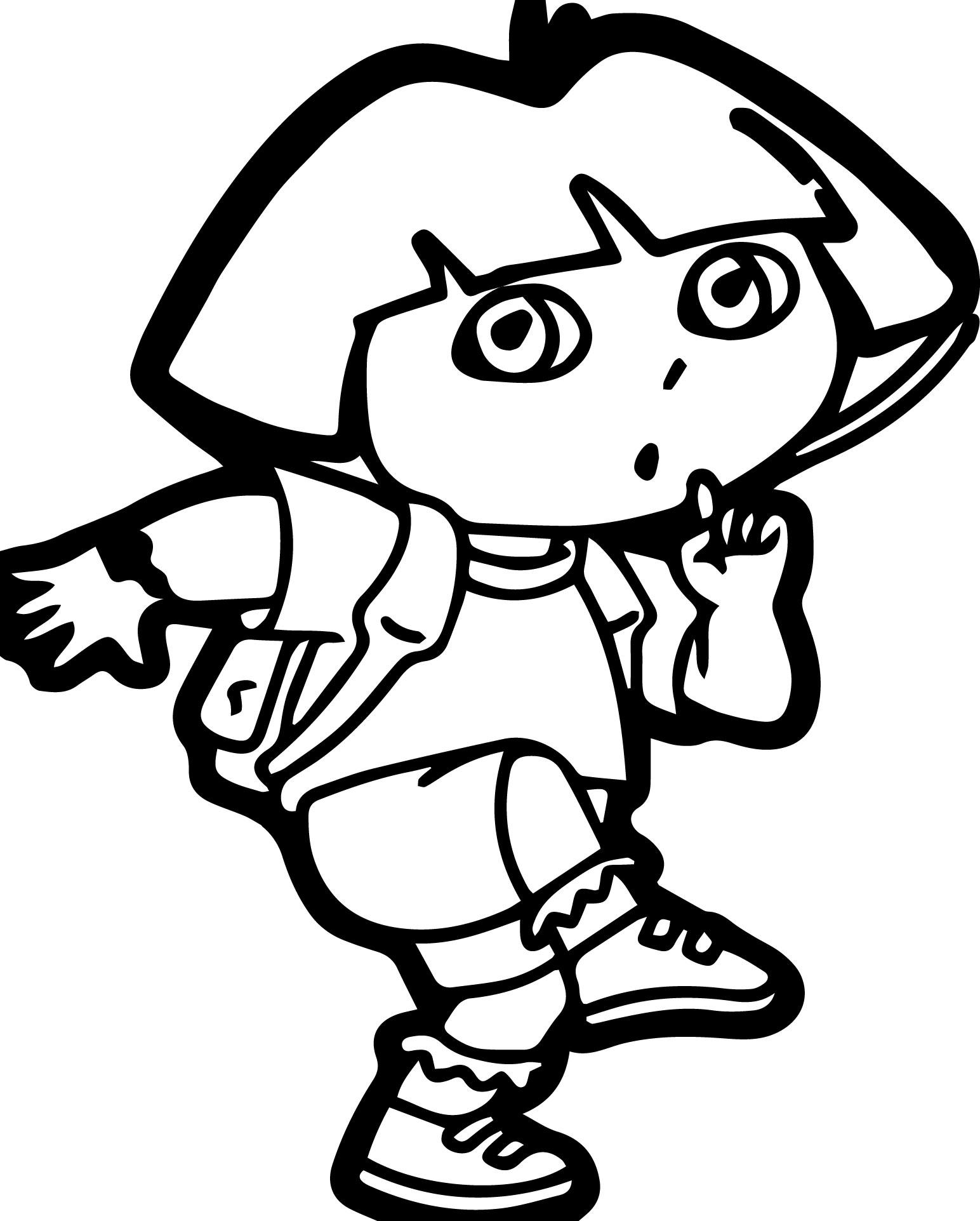 Dora Image Sshh Coloring Page