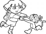 Dora Images Monkey Happy Dance Coloring Page