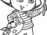 Dora Letters Painting Coloring Page