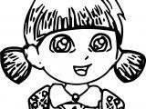 Dora Make Cake Love Coloring Page