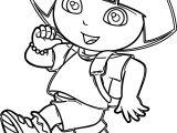 Dora Marquez Walking Cartoon Coloring Page
