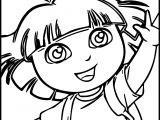 Dora Outdoor Coloring Page