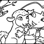 Dora Ovejita Sheep Cartoon Coloring Page