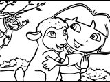 Dora Ovejita Sheep Cartoon Coloring Page