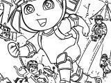 Dora Rollerskate Coloring Page