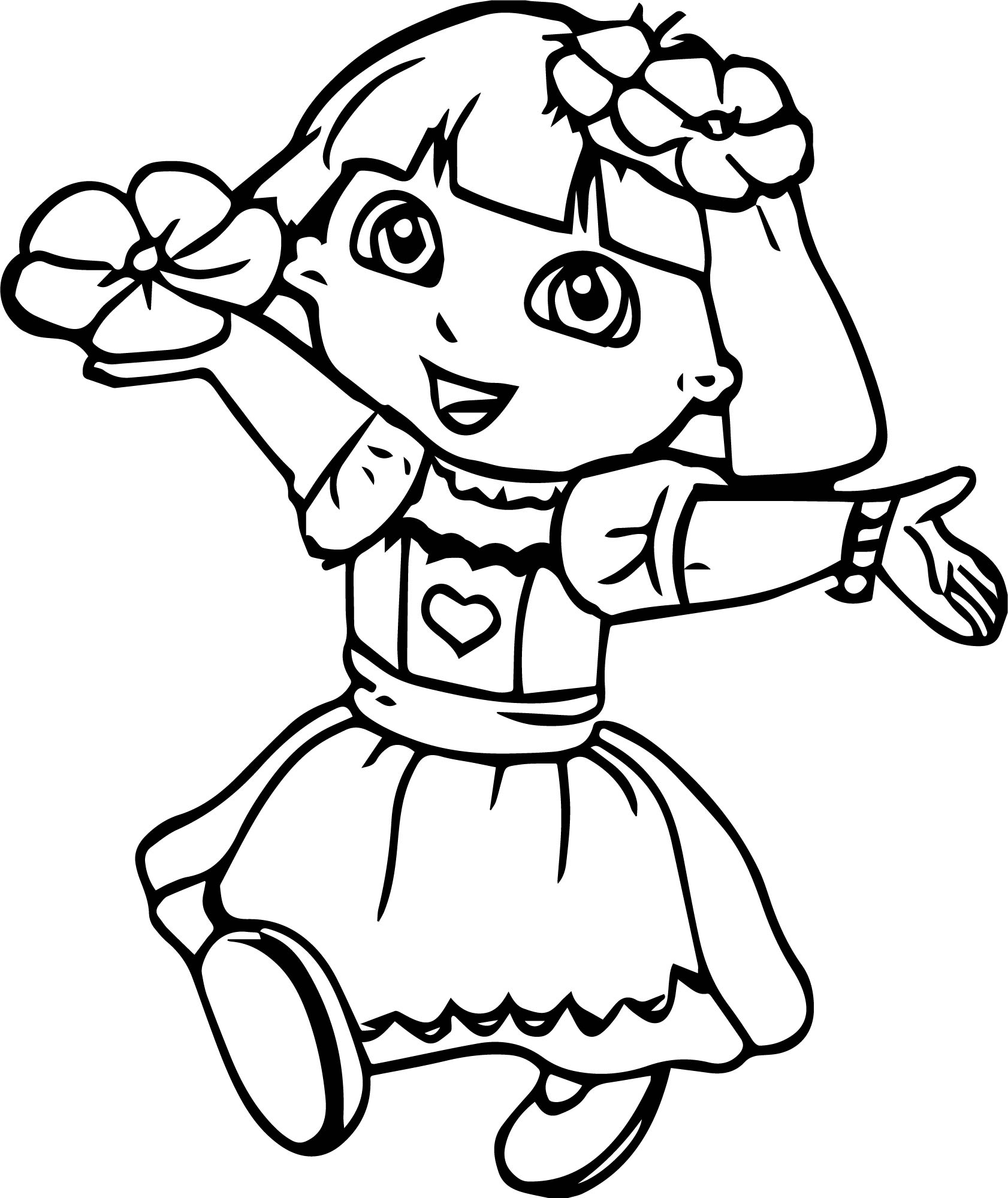 dora face coloring pages - photo#36