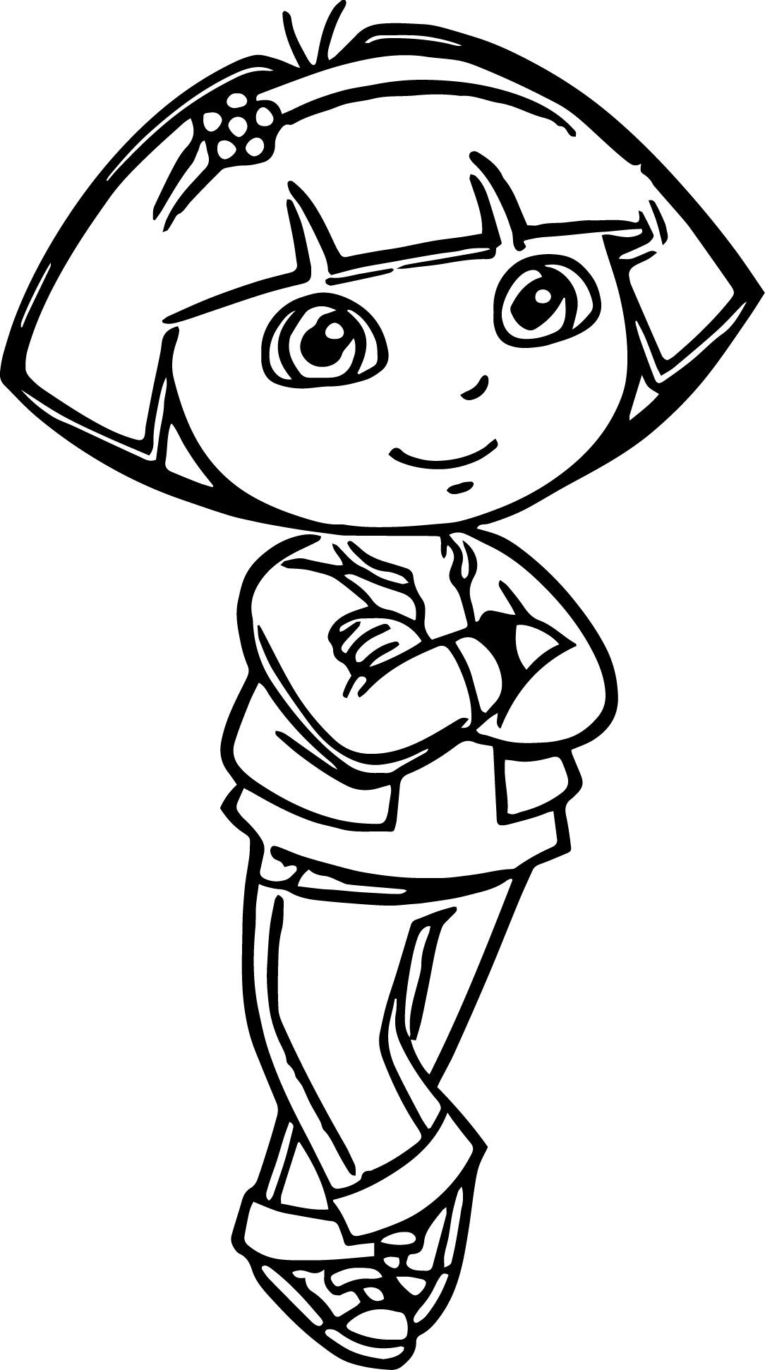 Dora The Explorer Night Dress Coloring Page